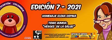 هفتمین رقابت کارتون و کاریکاتور کلمبیا 2021 انجمن هنرهای تجسمی استان اردبیل