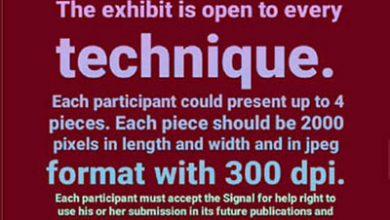 فراخوان نمایشگاه کارتون سیگنال برای کمک انجمن هنرهای تجسمی استان اردبیل
