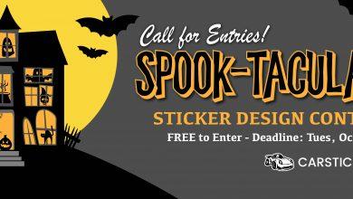 فراخوان طراحی استیکر Spook-Tacular انجمن هنرهای تجسمی استان اردبیل