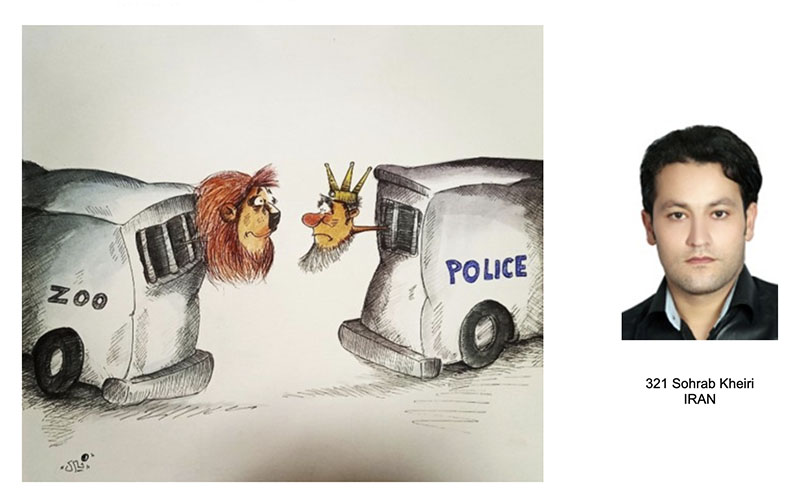 کارتونیست اردبیلی فینالیست کارتون طنز حیوانات و جشنوارهٔ طنز شهر ترنتو | انجمن هنرهای تجسمی استان اردبیل ـ جامعه تخصصی هنرهای تجسمی